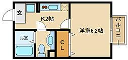 アクアコート[105号室]の間取り