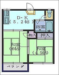 田中ハイツ[203号室]の間取り