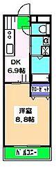 大福マンション薬円台[207号室]の間取り