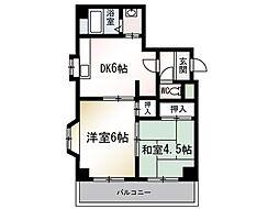 コーラルハイツ平塚[2階]の間取り