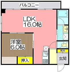 第5福原ビル[4階]の間取り