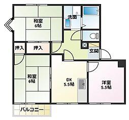 パインコートSEIWA A棟[2階]の間取り