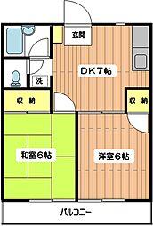 ドルフ弐番館[1階]の間取り