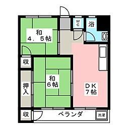 ユーアイハイツ[3階]の間取り