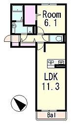 Blezio7[3階]の間取り