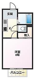 シャトレ壱番館[2階]の間取り