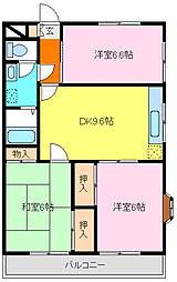 フローラ弐番館[2階]の間取り
