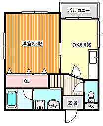 マンションマウンテン東加賀屋[4階]の間取り