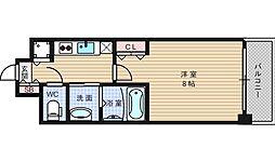 ララプレイス大阪West Prime[1501号室]の間取り