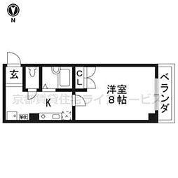 MONAMI[102号室]の間取り
