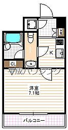 HF早稲田レジデンス[206号室]の間取り