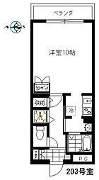 エムワン洗足[203号室]の間取り