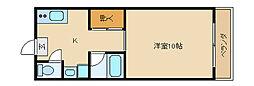 大阪府東大阪市横小路町5丁目の賃貸アパートの間取り
