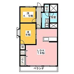 メゾン千秀[8階]の間取り