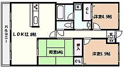 ベル・アーバニティ芦屋[2階]の間取り