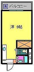 アクティ大津[703号室]の間取り