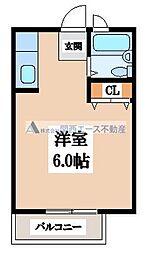 大阪府大阪市東成区大今里西2丁目の賃貸アパートの間取り