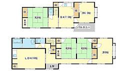 [一戸建] 兵庫県姫路市勝原区下太田 の賃貸【/】の間取り