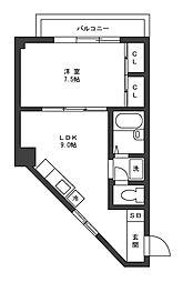 ビューハイツ土屋[4階]の間取り