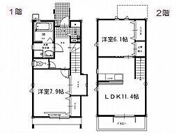 仮称 新居町アパート[B号号室]の間取り