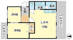 アイマンション[3階]の間取り