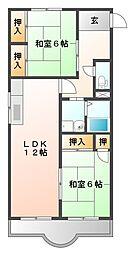 シェトワ甲子園[1階]の間取り