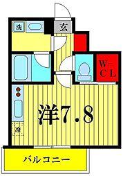 ヴェルメリオ本所 6階1Kの間取り
