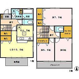 [テラスハウス] 埼玉県さいたま市大宮区三橋 の賃貸【/】の間取り