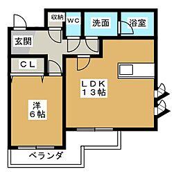 K'Sオーシャン[2階]の間取り