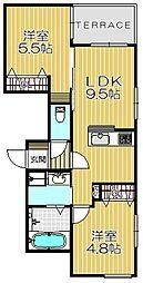 ショコラハウス甲子園[102号室]の間取り