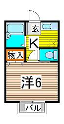 ルミエール武蔵野[2階]の間取り
