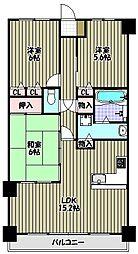 エバーランドシティ新・泉北7番館[11階]の間取り