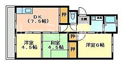 マンショントーメイ[3階]の間取り