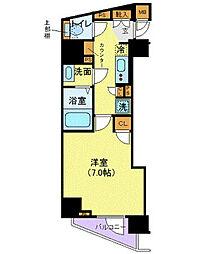 メイクスデザイン西新宿 12階1Kの間取り