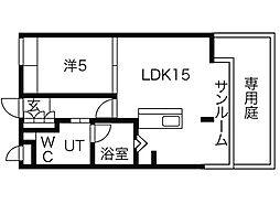 愛知県名古屋市瑞穂区師長町の賃貸マンションの間取り