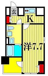 クレストタップ綾瀬 5階1Kの間取り