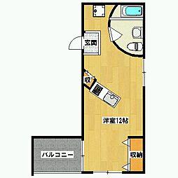 ミリオンスクエアーアパートメント[3階]の間取り