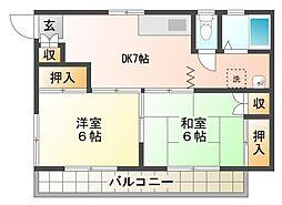 コーポナイス[2階]の間取り