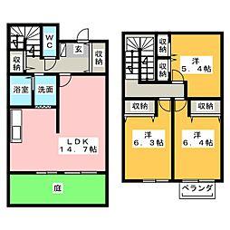[テラスハウス] 三重県松阪市嬉野中川新町3丁目 の賃貸【/】の間取り