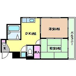兵庫県神戸市灘区篠原南町5丁目の賃貸マンションの間取り