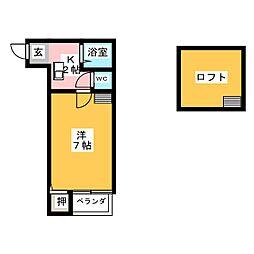 ペルカルロ[2階]の間取り