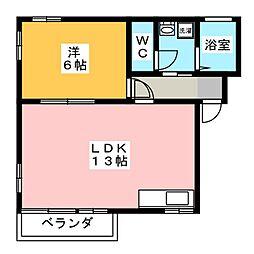 セゾン寿ハイツ[1階]の間取り