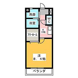 ラフィネ和合B[2階]の間取り