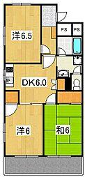 ジュノー・ムカイ[1階]の間取り