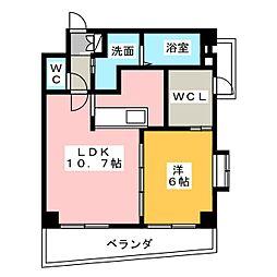 山八第7ビル[6階]の間取り