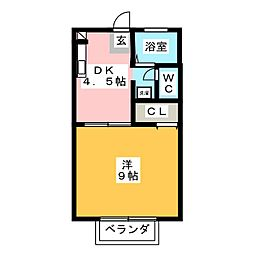 マリアージュE棟[2階]の間取り
