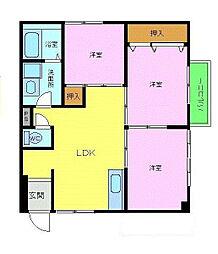 プラザハウス[2階]の間取り