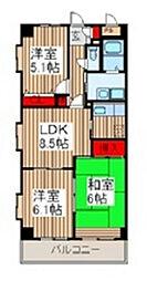 プレジュール浦和[3階]の間取り