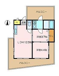 杉田コープ今井[5階]の間取り