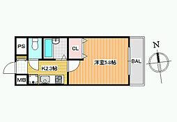 リノン恵我ノ荘[3階]の間取り